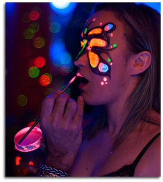 Maquillaje facial y corporal fluor