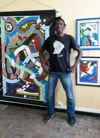 Rencontre avec l'artiste Franky Amete qui développe l'art Tembé Bushinengue.