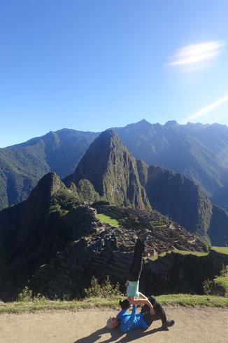 Acroyoga au Machu Picchu