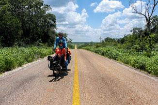 vélo tandem route mexique, lien vers la galerie photo