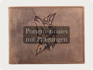 Portemonnaie mit Bild Prägung
