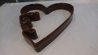 Coeur en chocolat imprime en 3D avec l'Impressionnante