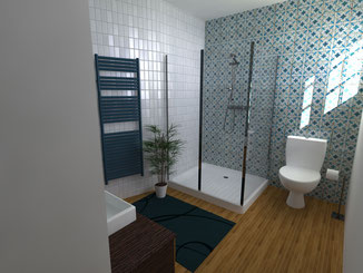Perspective réaliste rénovation salle de bain