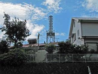 神奈川県・真鶴町で見たアンテナ塔