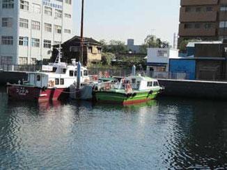 横浜市・ゾウの鼻パークの船