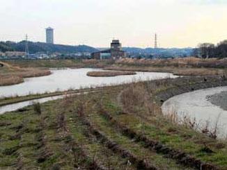 横浜市・境川遊水地公園全景