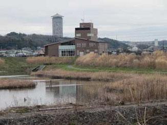 県立境川遊水地公園の情報センター