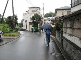 神奈川県・雨降る真鶴町
