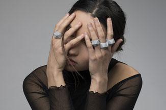 facettierte 3D gedruckte Ringe