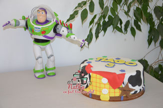 cake design toy story sponge cake chocolat woody buzz