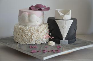 wedding cake, molly cake, ferrero cake, chocolat noisettes fraise fraisier