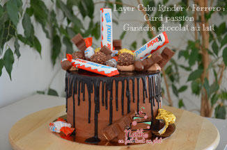 layer cake chocolat au lait passion kinder ferrero