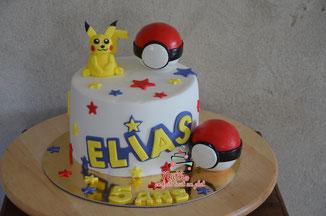 pikatchu pokemon sponge cake chocolat cake design vanille