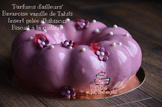 Bavarois vanille, gelée d'hibiscus