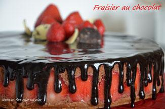 sans cuisson fraisier au chocolat
