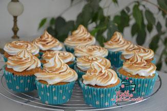 cupcakes citron curd meringue coulant