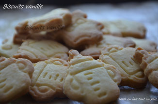sablés croquant au doux goût de vanille. recette de philippe conticcini