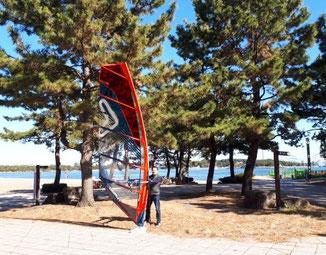 ウインドサーフィン 神奈川 横浜 海の公園 スクール 初心者 メンバー
