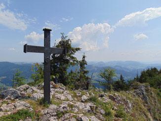 """Schieferstein Gipfelkreuz und Weiterwanderung auf den Stoananer Jaga """"Steinerner Jäger"""""""