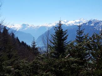 Ausblick auf das Dachstein Massiv vom Predigtstuhl Gipfel aus