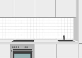 Küchenspiegel 10 x 10 cm auf Kreuzfuge