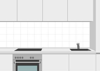 Küchenspiegel 20 x 20 cm auf Kreuzfuge