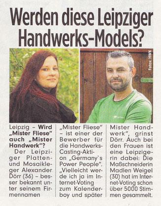 """Mister Fliese - Ihr Fliesenleger aus Leipzig in """"Bild vom 06.07.2017"""""""