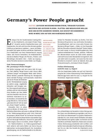 """Mister Fliese - Ihr Fliesenleger aus Leipzig in """"Das Deutsche Handwerksblatt 08/2017"""""""