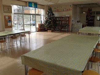 震災直後 皆で過ごした食堂