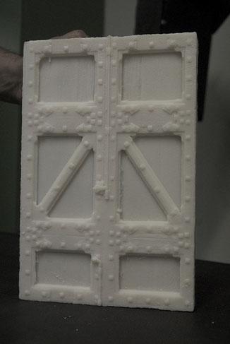 Modelo de puerta, para fundición