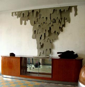 L'inconnu du monde qui vient ~~ fibre de bois recyclé - vue de l'exposition