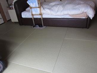 この床も「リフォーム畳®」です。畳柄もあります。