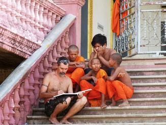 A Kompong Cham au Cambodge.