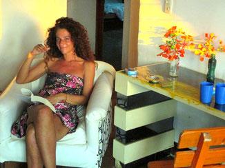 Céline à Taganga, Colombie.