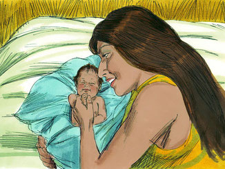Pendant 20 ans, Rachel ne tombe pas enceinte et voit sa sœur Léa accoucher plus de 7 fois. Elle déclare un jour à son mari, Jacob : « Donne-moi des enfants ou je meurs!»