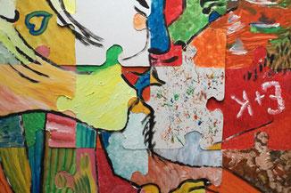 Kreatives Teambuilding mit Malen und Zeichnen - Puzzle Team Painting