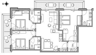 Apartement Navada - floor plan