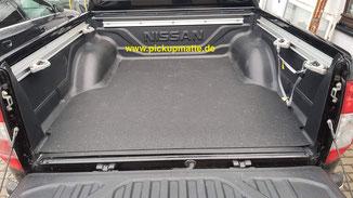 Antirutschmatte Nissan Navara D40, NP300, N-Guard Doppelkabine, DoKa, Kingcab, Extrakabine, XCab, www.pickupmatte.de