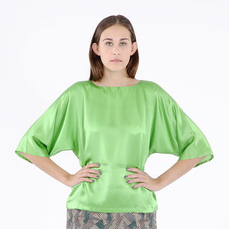 Bitten Stetter, Damen, Bluse, Oberteil, grün, weiter Arm, klassisch