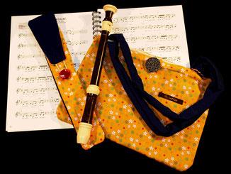 Flötentaschen,Schalmeitasche,Hülle,Etuis