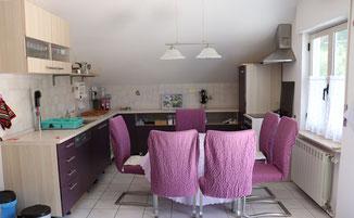 Ess- und Küchenbereich Casa Belle Vacanze © ferienwohnung-nahe-tropea-in-kalabrien.com