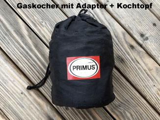 Gaskocher, Adapter, Kochtopf, Primus Litech