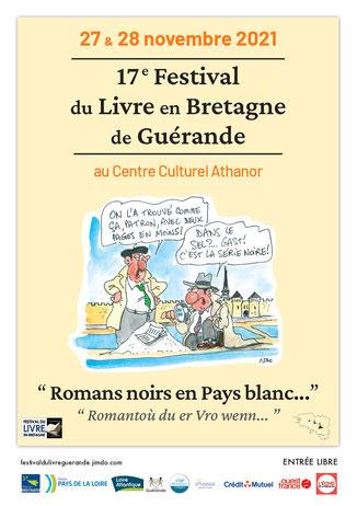 affiche de la 14ème édition du festival du livre en Bretagne de Guérande qui accueille des visiteurs