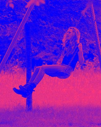 Bild mit stark farbveränderndem Filter