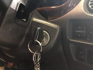 車のキーシリンダー