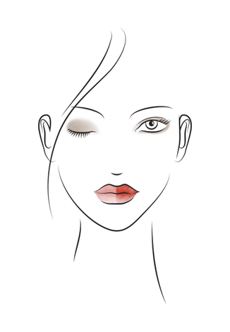 Make-up Collection Spring Summer Fresh Orange Look-Skizze