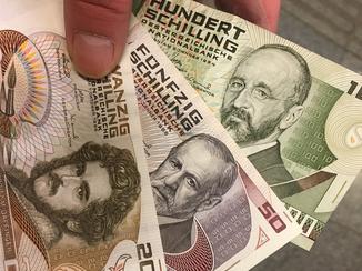 Schilling wechseln, schilling umtauschen zu euro, nationalbank wien, papiergeld umtauschen,