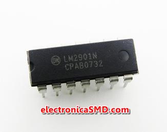 LM2901 Comparador Cuádruple Cicuitos Integrados CI Electronica Electronico Guatemala ElectronicaSMD