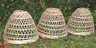 Garten-Cloches aus Bambus bei www.the-golden-rabbit.de