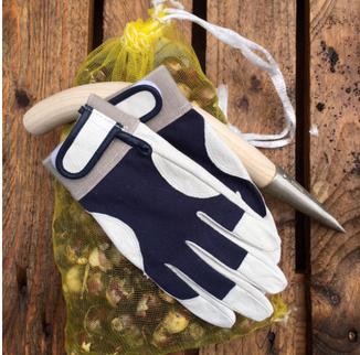 """Der """"P804"""" vom japanischen  Handschuhspezialisten Kashida  ist ein wunderbar verarbeiteter, weicher Lederhandschuh für die Gartenarbeit von www.the-golden-rabbit.de"""